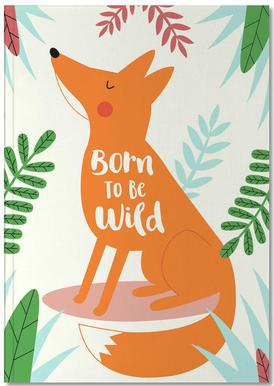 Born to Be Wild Fox Carnet de note