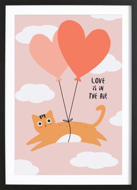 Love Is in the Air Poster im Holzrahmen