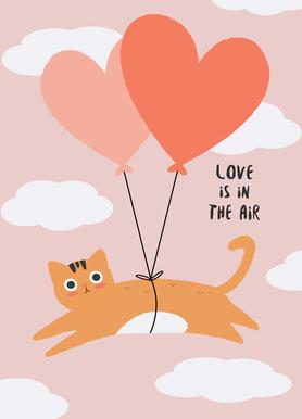 Love Is in the Air canvas doek