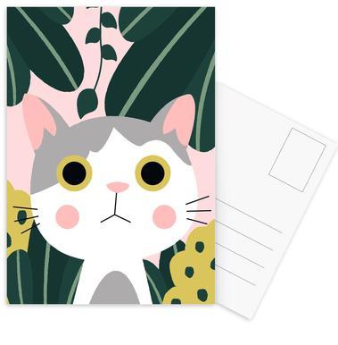Jungle Cat Set de cartes postales