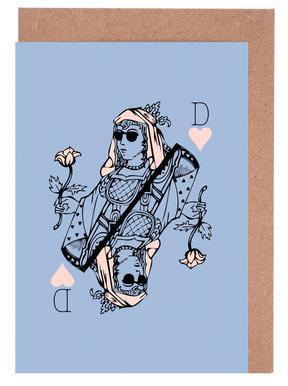 Reine de cœur Set de cartes de vœux