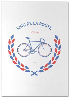 King Bleu Rouge Notepad