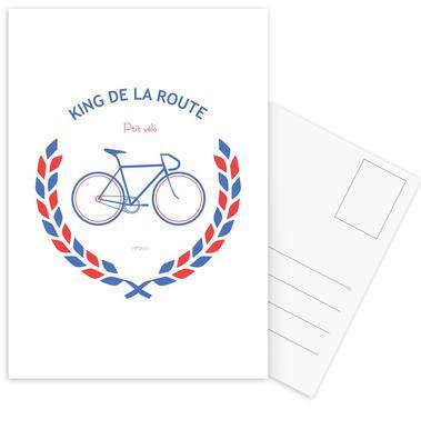King Bleu Rouge Set de cartes postales