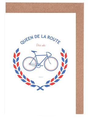 Queen Bleu Rouge cartes de vœux