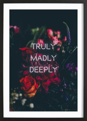Truly Madly Deeply Poster in Wooden Frame