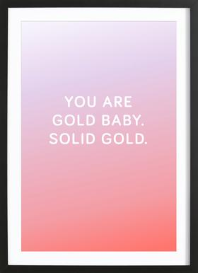 You Are Gold Baby ingelijste print