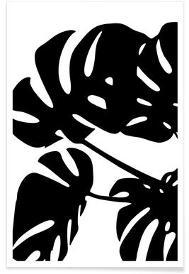 Monstera Leaf 1 Affiche