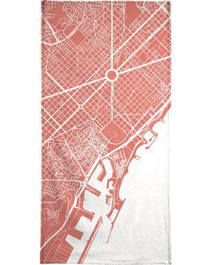 Barcelona Pink som Duschdraperi av Urban Maps  246bfc64f869a