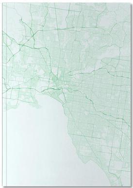 Traffic Melbourne Green Notitieboekje