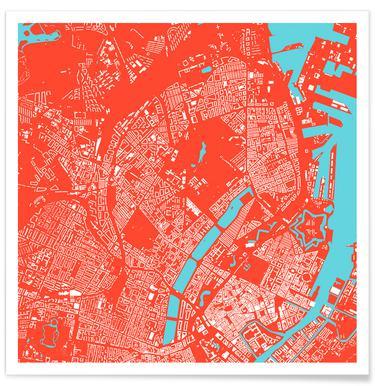 Copenhagen Red Poster
