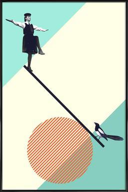 B is for Balance Framed Poster
