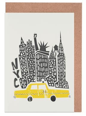 New York Cityscape -Grußkarten-Set