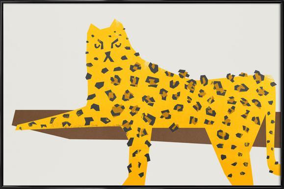 Leopard Lounging Affiche sous cadre standard