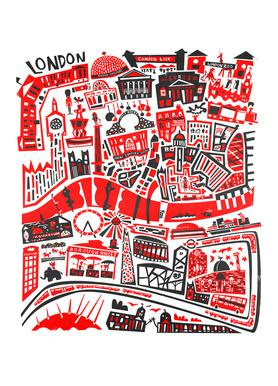 Busy London Map Canvas Print