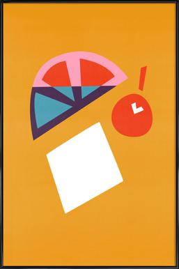 Orange Cocktail affiche encadrée