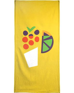 Yellow Cocktail Beach Towel