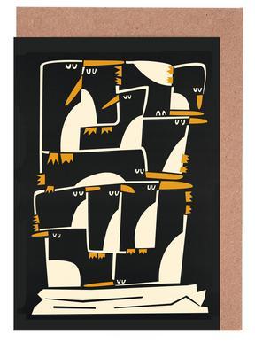 Penguins Set de cartes de vœux