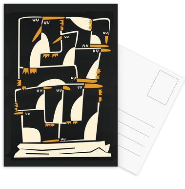 Penguins Postkartenset