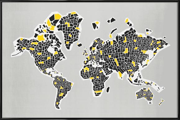 Buy Framed World Map Posters Online | JUNIQE UK
