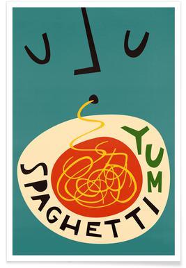 Yum Spaghetti Affiche