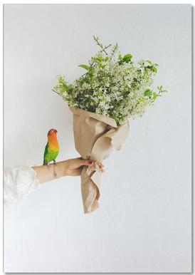 Parrot And A Girl Notepad
