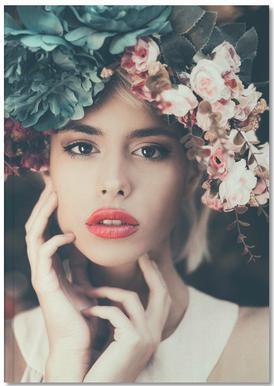 Floral Girl Notizbuch