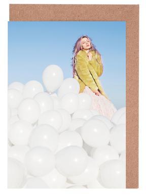 300 Balloons Greeting Card Set