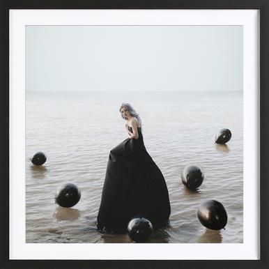 Black Balloons Framed Print