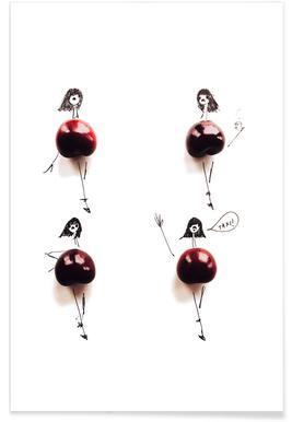 Cherry Fashion Sketch Poster