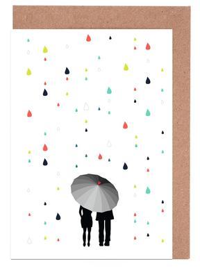 Rainy Days - Come Under My Umbrella - Col wenskaartenset
