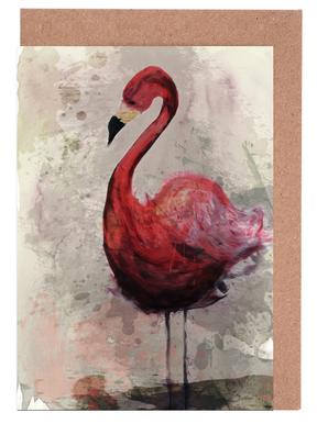 Flamingo Set de cartes de vœux