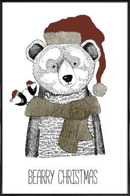 Bearry Christmas Framed Poster