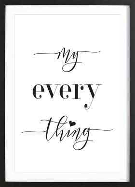 Everything Poster in Wooden Frame