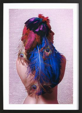 Noise (Feather) Framed Print