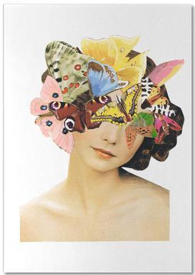 Het recht mooi te zijn - Butterflyhead notitieblok