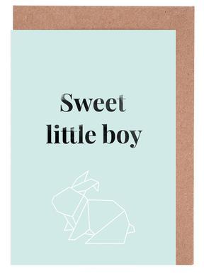 Sweet Little Boy Greeting Card Set