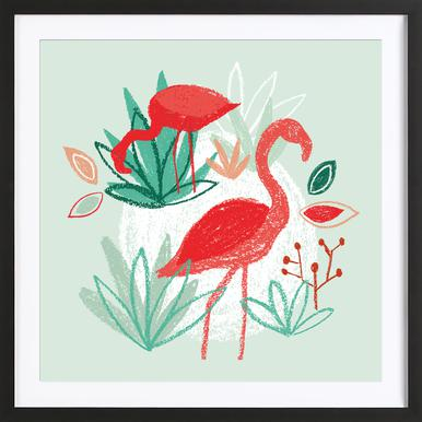 The Two Flamingos Framed Print