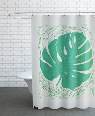 Monstera Acquamarina Shower Curtain