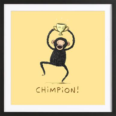 Chimpion Framed Print