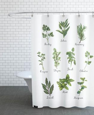 Herbs Collection Rideau de douche