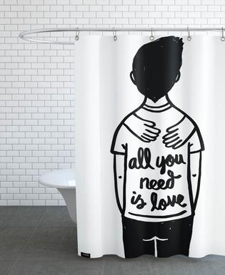 All You Need Is Love (B&W) Shower Curtain