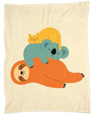 Being Lazy Fleece Blanket