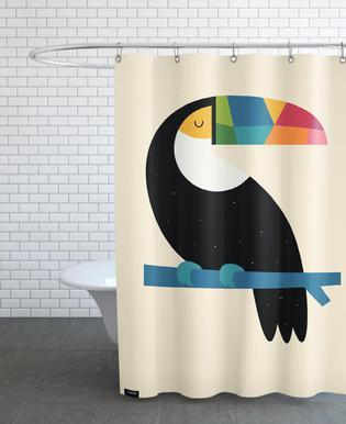 Rainbow Toucan Duschvorhang