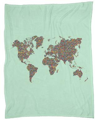World maps fleece blankets juniqe slum world ninhol fleece blanket gumiabroncs Images