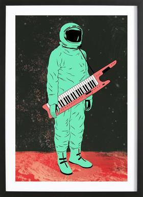 Space Jam Poster im Holzrahmen