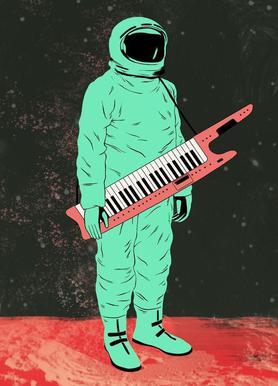 Space Jam Leinwandbild