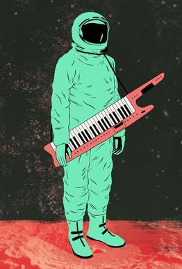 Space Jam Acrylglasbild