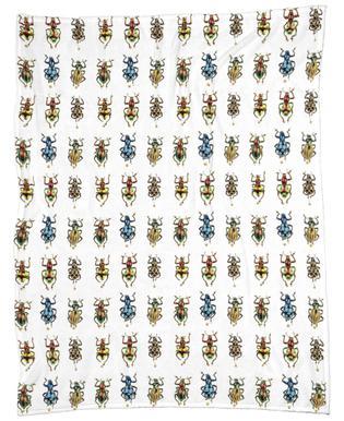 Tiny Beetles Fleece Blanket