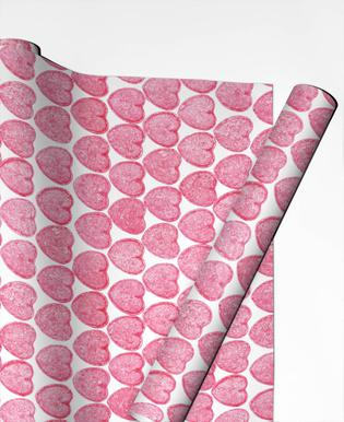 Pink Hearts Gift Wrap