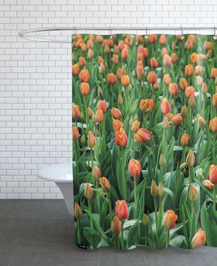 Tulip Field Orange douchegordijn
